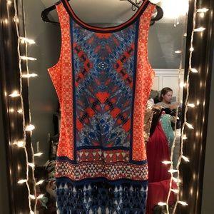 Multicolored cocktail dress
